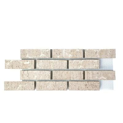 28 in. x 10.5 in. x 0.625 in. Brickwebb Bristol White Thin Brick Sheets (Box of 5-Sheets)