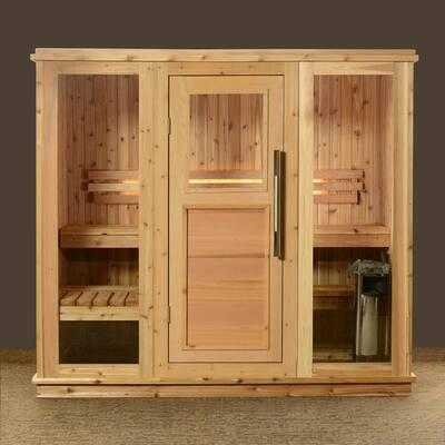 Bridgeport Cedar 6-Person Electric Heater Sauna