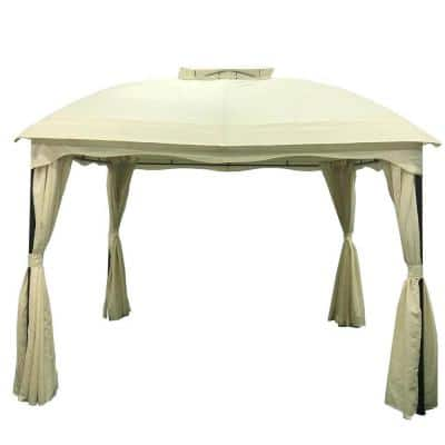 Arizona 9.8 ft. x 11.8 ft. Beige Canopy Gazebo