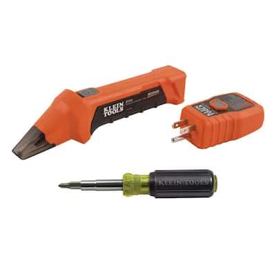 Digital Circuit Breaker Finder and Multi-Bit Screwdriver Tool Set