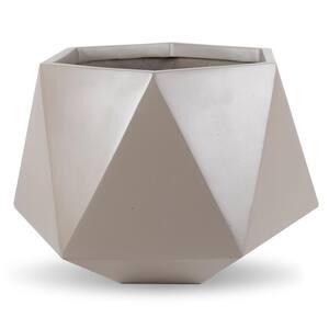 Adamas 17 in. Dia Cedar Gray FiberStone Pot