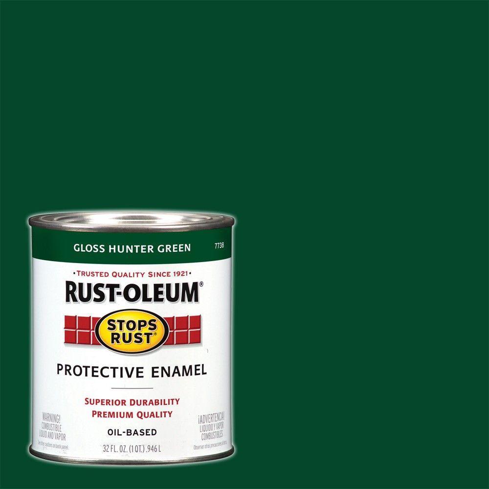 1 qt. Protective Enamel Gloss Hunter Green Interior/Exterior Paint