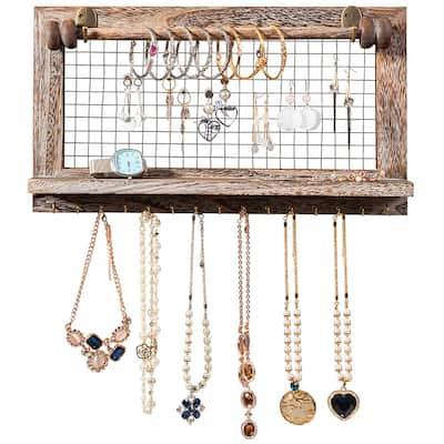 Wall Mounted Jewelry Holder Hanger Display Rack