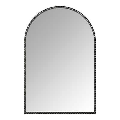 Medium Arched Dark Bronze Antiqued Classic Accent Mirror (35 in. H x 24 in. W)