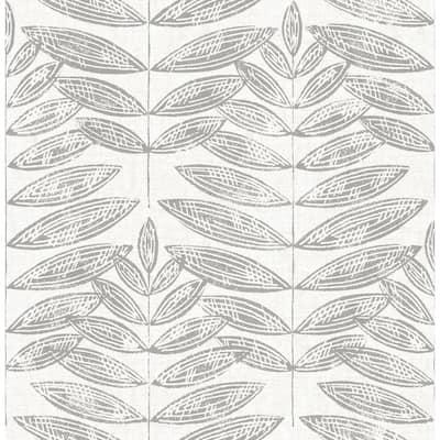 Greys Vinyl Peel & Stick Wallpaper Roll (Covers 30.75 Sq. Ft.)