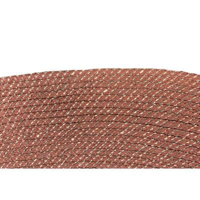 Palm Spring Braid Collection is Durable and Stain Resistant Reversible Rust 8 ft. x 10 ft. Oval Polypropylene Area Rug