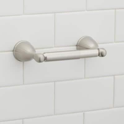 Builders Toilet Paper Holder in Brushed Nickel