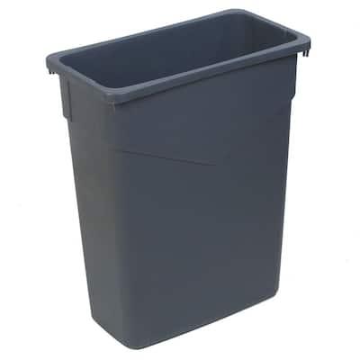 TrimLine 15 Gal. Gray Rectangular Trash Can (4-Pack)