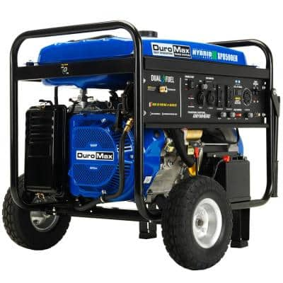 8500/7000-Watt Electric Start Dual Fuel Gas or Propane Powered Portable Generator Home Back Up/RV Ready