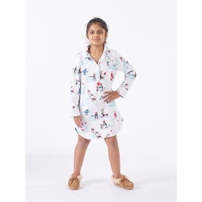 Family Flannel Company Cotton™ Girl's Sleepshirt in Snowy Fun Friends
