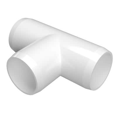 1-1/4 in. Furniture Grade PVC Tee in White (4-Pack)