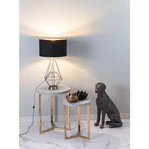 28 in. Delancey Black Table Lamp