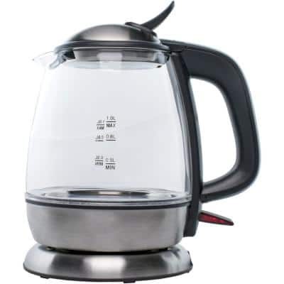 4.2-Cup Black Cordless Glass Electric Kettle