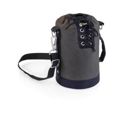 Grey and Black Insulated Growler Tote