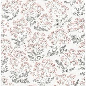 Briana, Floret Pink Floral Wallpaper