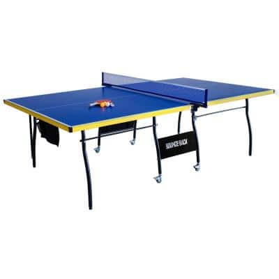 Bounce Back Table Tennis - Regulation-Sized 9 ft. with Foldable Halves for Individual Play