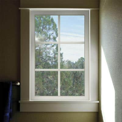 35.5 in. x 29.5 in. V-2500 Series White Vinyl Fixed Picture Window with Colonial Grids/Grilles