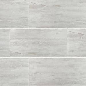 Nyon Gray 12 in. x 24 in. Polished Porcelain Floor and Wall Tile (16 sq. ft. / case)