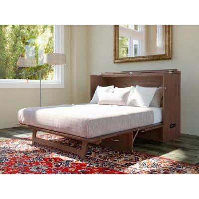Deerfield Murphy Bed Chest Queen Burnt Amber with Charging Station