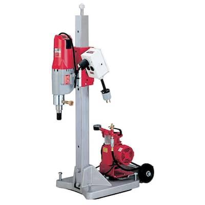 Diamond Coring Rig with Large Base Stand, Vac-U-Rig Kit, Meter Box and Diamond Coring Motor