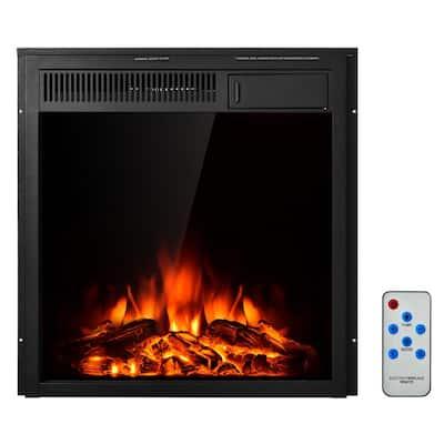 22.5 in. Freestanding Steel Smart Electric Fireplace in Black