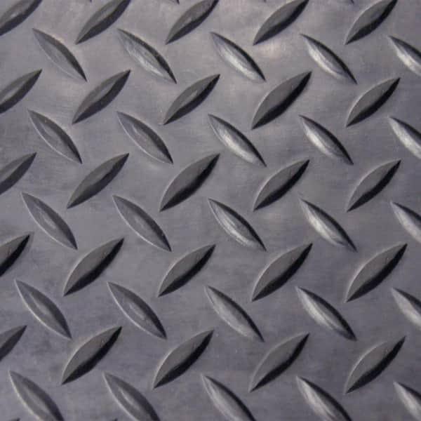 x 10 ft black rubber flooring diamond plate 4 ft 40 sq. ft. mat rolls gym