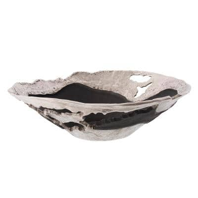 Contemporary Nickel and Black Bowl, Large