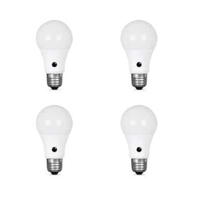 60-Watt Equivalent A19 IntelliBulb Dusk to Dawn LED Light Bulb Daylight (4-Pack)