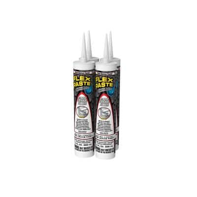 Flex Paste 9 fl. oz. White All-Purpose Strong Watertight Sealant (4-Pack)