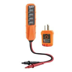 Electrical Test Kit with Voltage and Receptacle Tester