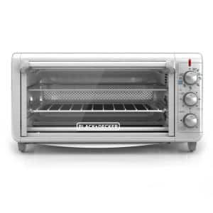 Crisp 'N Bake 1500 W 8-Slice Stainless Steel Toaster Oven with Fry Basket