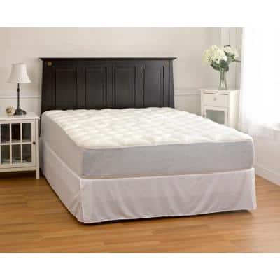 White King Plush Rayon from Bamboo Mattress Pad with Fitted Skirt
