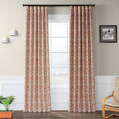 Nouveau Tan Geometric Blackout Curtain - 50 in. W x 120 in. L