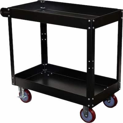 Economy 2-Tier Steel Service Cart