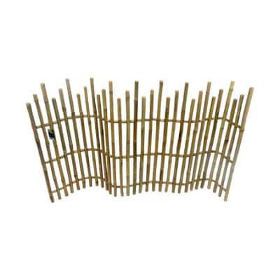 5 ft. L x 3 ft. H Bamboo Picket Fence