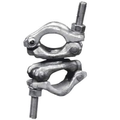 9 in. x 4.5 in. x 4.5 in. Galvanized Steel Bolted Swivel Dual Clamp for Connecting Parts/Accessories to Scaffold Frame