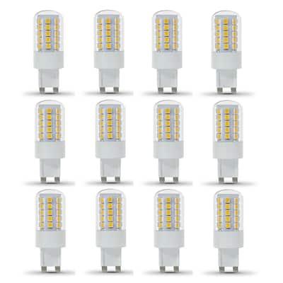40-Watt Equivalent T4 Dimmable G9 Bi-Pin LED Light Bulb, Warm White 3000K (12-Pack)