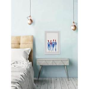 12 in. H x 8 in. W Blue Stripes'' by Marmont Hill Framed Wall Art