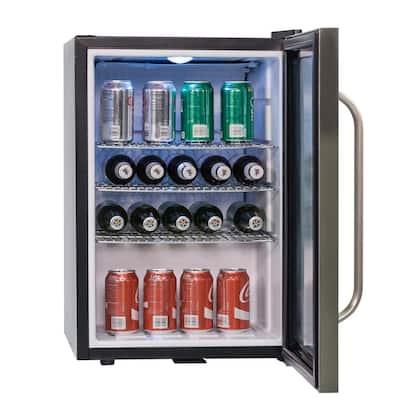 2.5 cu. ft. Countertop Beverage Cooler Merchandiser in Stainless Steel