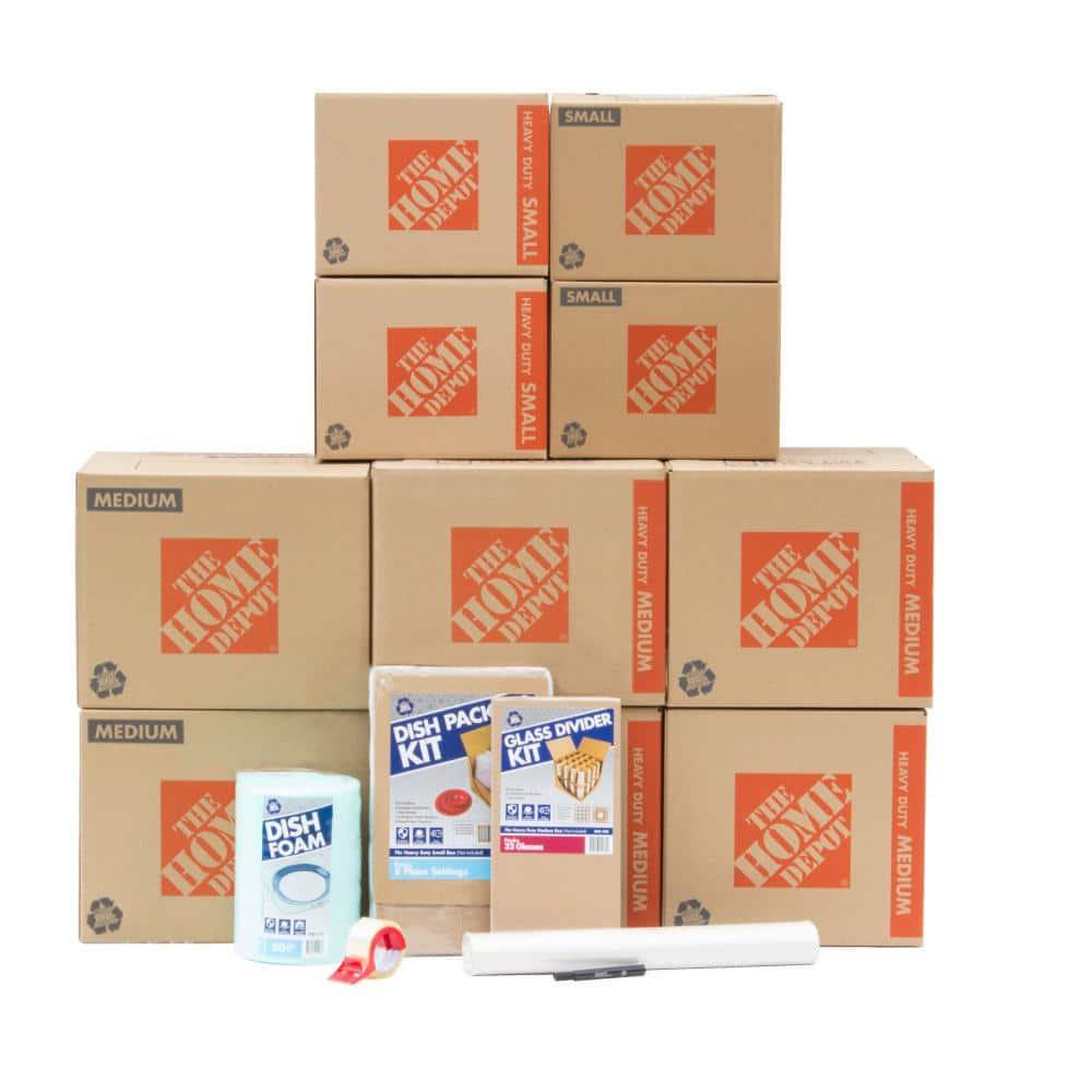 The Home Depot 10-Box Kitchen Moving Box Kit