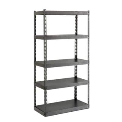 5-Tier Steel Garage Storage Shelving Unit with EZ Connect (36 in. W x 72 in. H x 18 in. D)