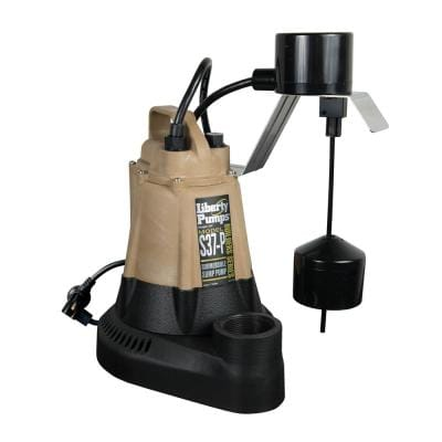 S30-Series 1/3 HP Submersible Sump Pump with Vertical Float Switch Piggyback Series Plug