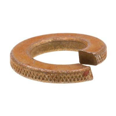 3/8 in. Grade 8 Yellow Zinc Plated Steel Medium Split Lock Washers (25-Pack)