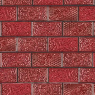 Antic Feelings Red Moon 3 in. x 6 in. Ceramic Subway Wall Tile (4.38 sq. ft. / Case)