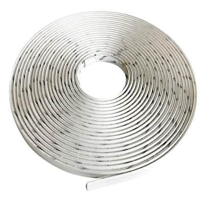3/4 in. x 50 ft. White PVC Inside Corner Self-adhesive Flexible Caulk and Trim Molding