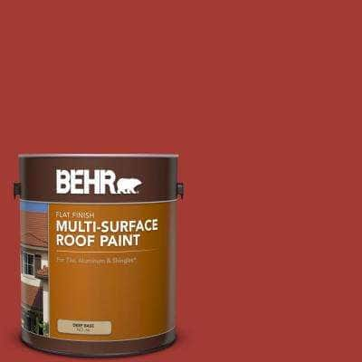 1 gal. #PFC-03 Red Baron Flat Multi-Surface Exterior Roof Paint