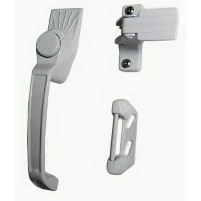 Aluminum White Screen Door Handle Set Latches