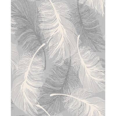 Journey Grey Feather Sample Grey Wallpaper Sample