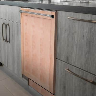 24 in. Wood Grain Top Control Smart Touch Dishwasher 120-volt with Stainless Steel Tub