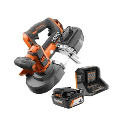 18V Cordless Compact Band Saw Kit with (1) 4.0 Ah Battery and Charger